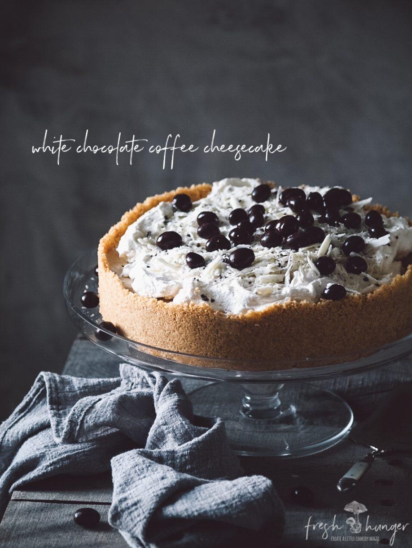 white chocolate coffee cheesecake