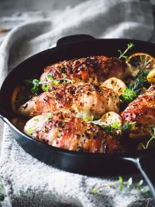 bacon-wrapped stuffed mediterranean chicken breasts