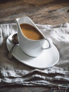 how to make gravy without the pan drippings (orange brandy gravy)