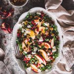 apple, kale, bacon & goat cheese salad
