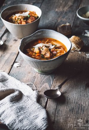 hearty ham & lentil soup