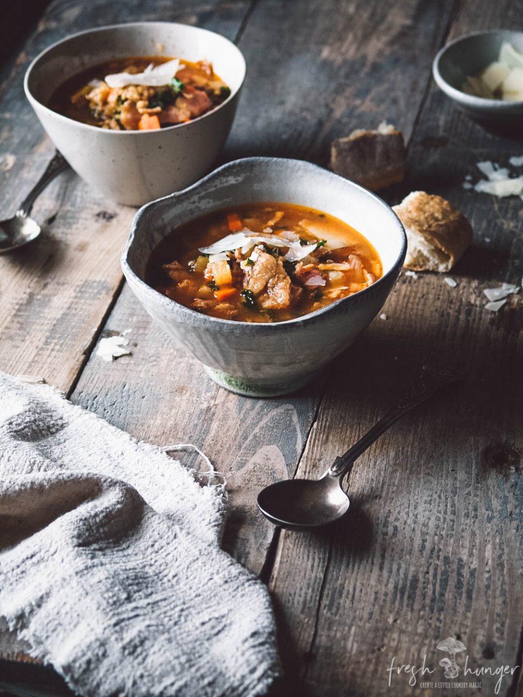 hearty ham & lentil soup