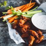 how to get THE crunchiest chicken wings (& homemade blue cheese sauce)