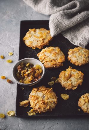 Raisin Ginger cornflake cookies