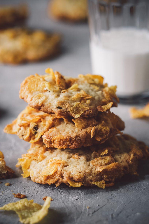 Raisin Ginger cornflake cookies