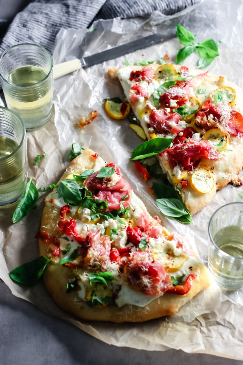 ROASTED PEPPER & PROSCIUTTO FLATBREADS