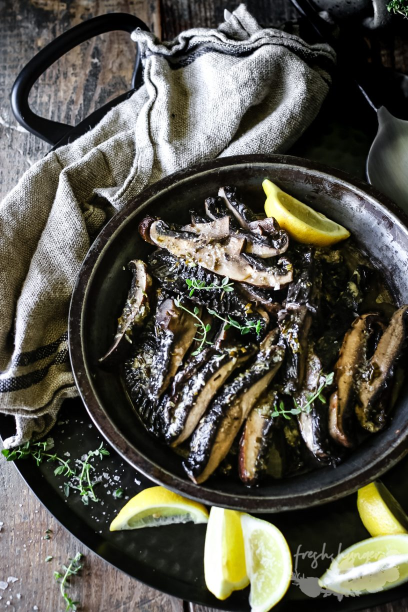 LEMON HERB BUTTER MUSHROOMS