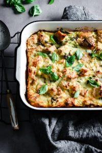 zucchini, basil and parmesan frittata
