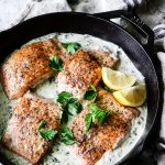 Creamy Lemon Herb Caper Salmon