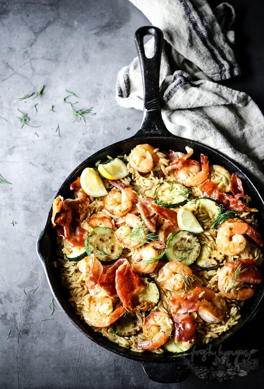 ONE-PAN LEMON SHRIMP & ZUCCHINI ORZO
