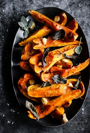 STICKY SAGE ROASTED BUTTERNUT SQUASH
