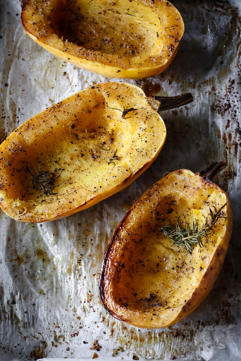 ROSEMARY BROWNED BUTTER SPAGHETTI SQUASH