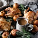 CORNISH HENS WITH APPLE STUFFING