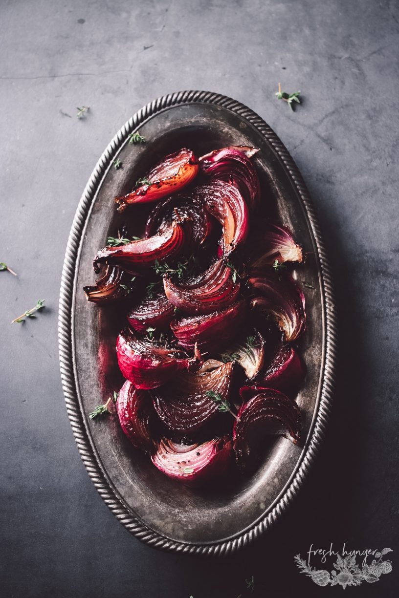 SWEET AND SOUR ROASTED ONIONS
