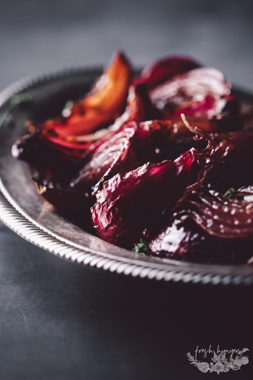 ROASTED SWEET AND SOUR ONIONS