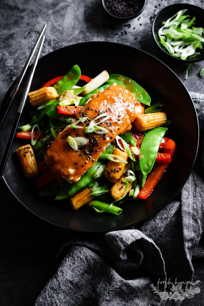 SWEET CHILI MISO SALMON