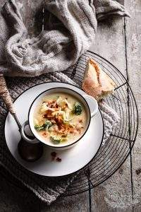 BROCCOLI AND LOADED POTATO SOUP
