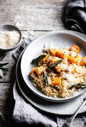 ROASTED SQUASH RISOTTO WITH SAGE BUTTER