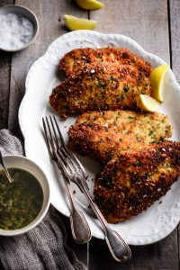 CRISPY CHICKEN WITH LEMON BUTTER