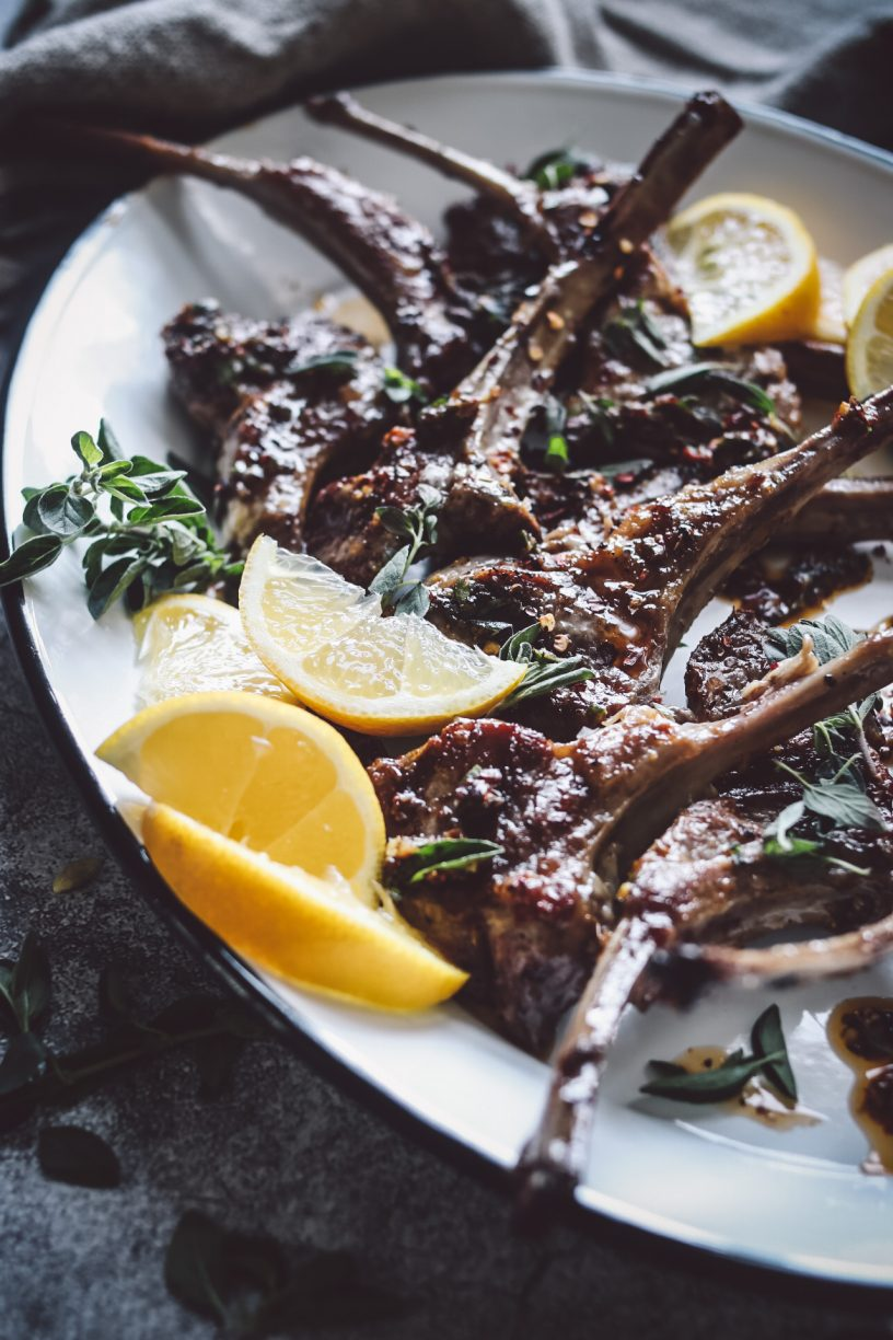 GRILLED LEMON OREGANO LAMB CHOPS