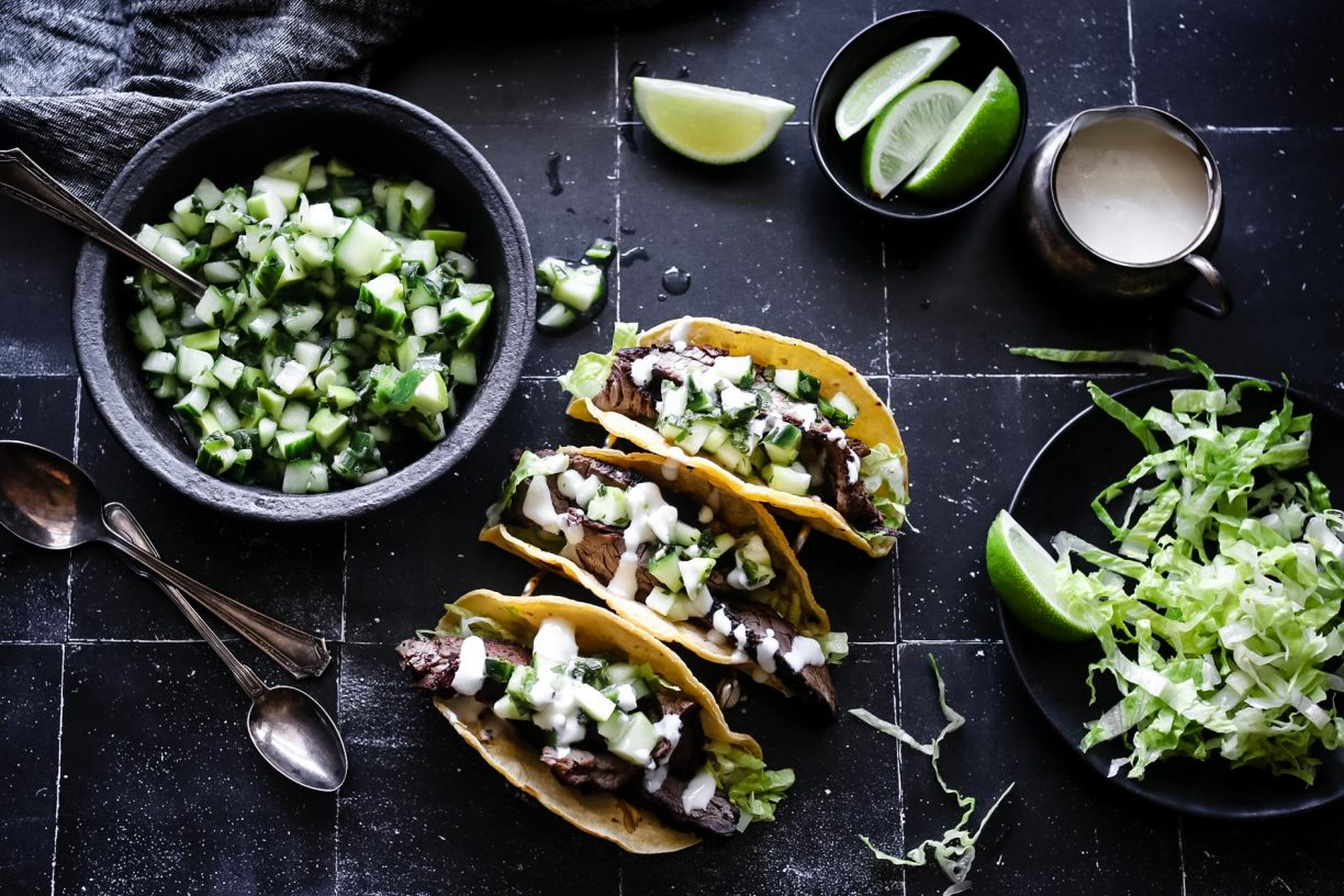 SMOKY LIME BEEF TACOS