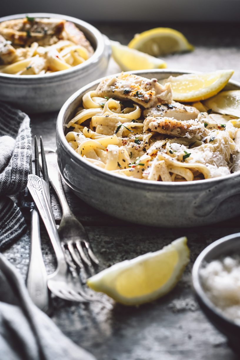 CREAMY LEMON CHICKEN FETTUCCINE