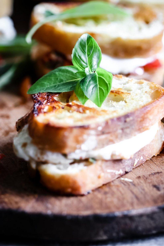 BRUSCHETTA GRILLED CHEESE SANDWICHES